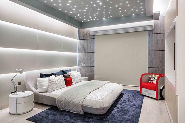 fibre optics in child's bedroom